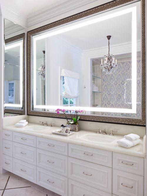 Светодиоды - это прекрасный и современный вариант обрамления для зеркала