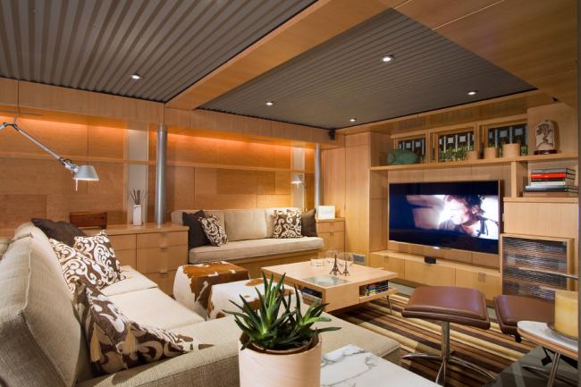 Интерьер гостиной в стиле модернизм