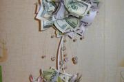 Фото 25 Топиарий из денег: пошаговые мастер-классы по созданию денежного чуда своими руками