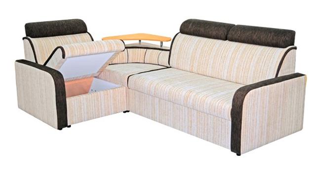Система хранения и небольшая столешница сделают мебель очень комфортной