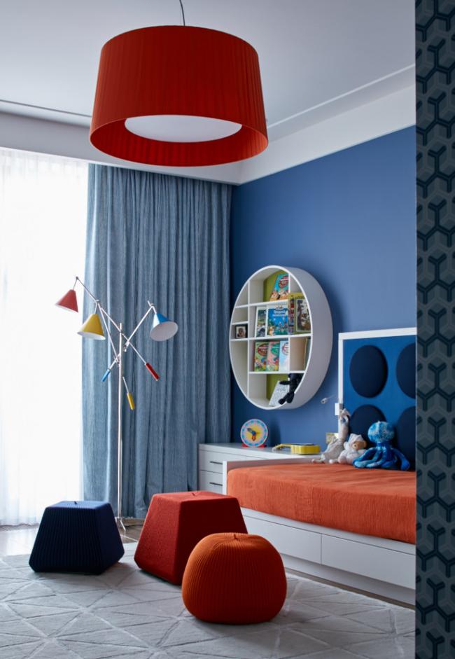 Гармоничное сочетание цветов в дизайне современной детской комнаты