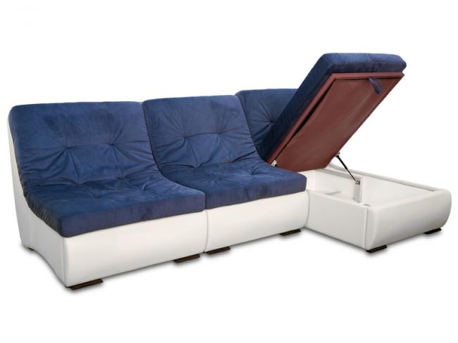 Угловой раскладной диван с системой хранения