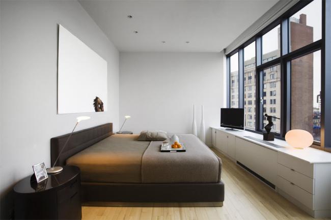 Панорамное остекление в дизайне спальни