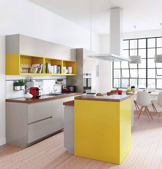 Элегантный серый и контрастный желтый замечательно смотрятся вместе