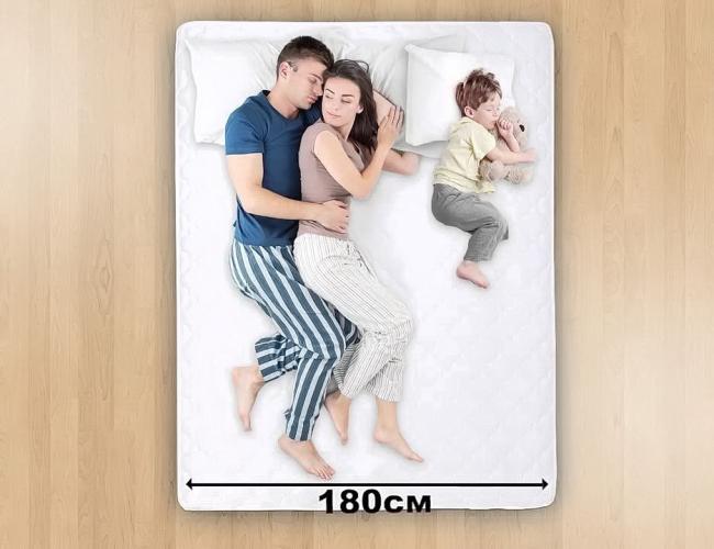 Матрас 180 см хорошо подходит для семьи из трех человек