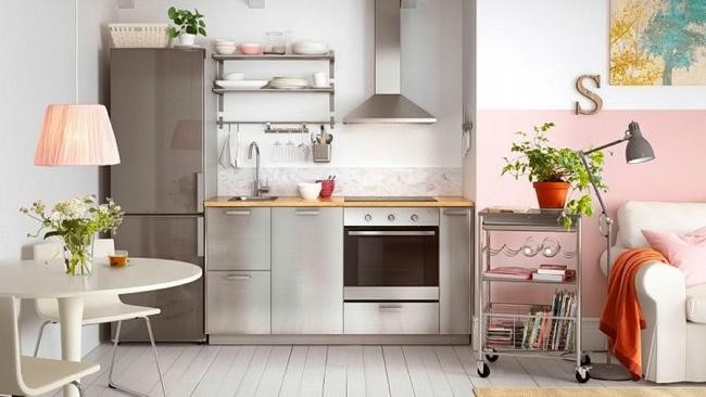 Небольшая кухня-студия от IKEA Метод
