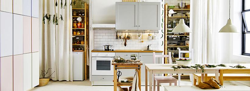 Кухни IKEA в интерьере (80+ реальных фото): обзор популярных серий Далларна, Метод, Кноксхульт, Рингульт и Будбин