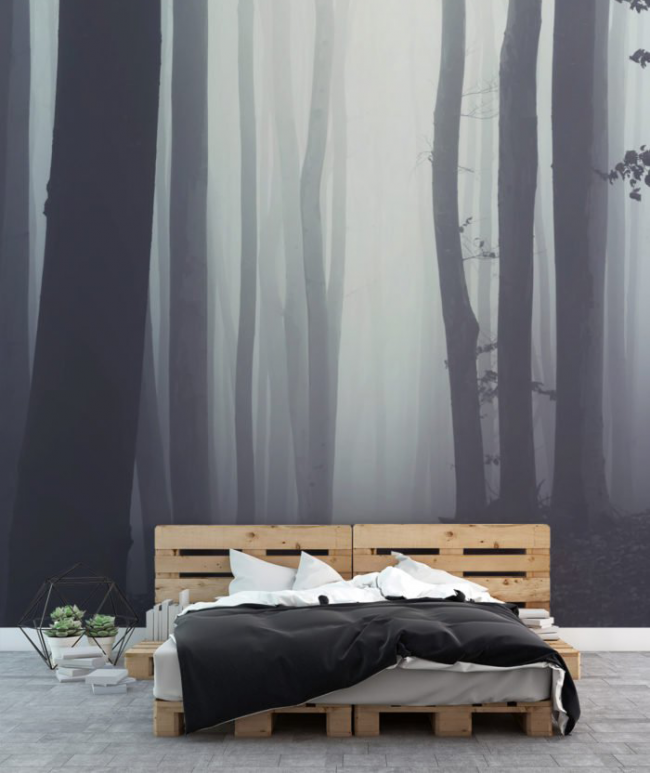 Изображение на стене создает в комнате особую атмосферу