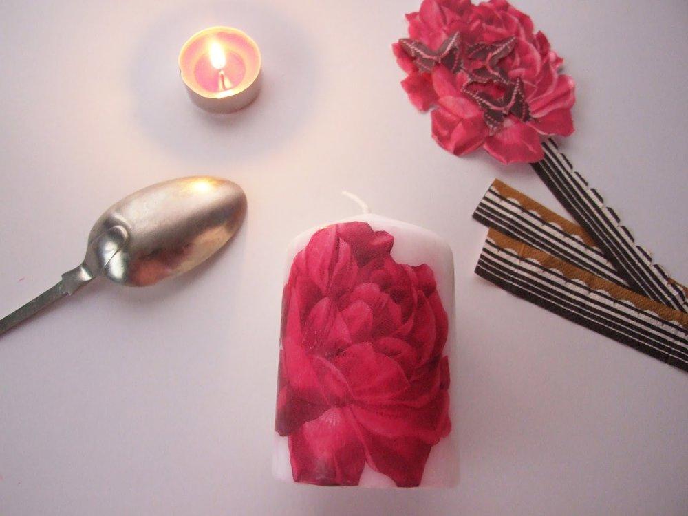 Декупаж свечей (80 фото)✅️ Мастер-классы и декор пошагово
