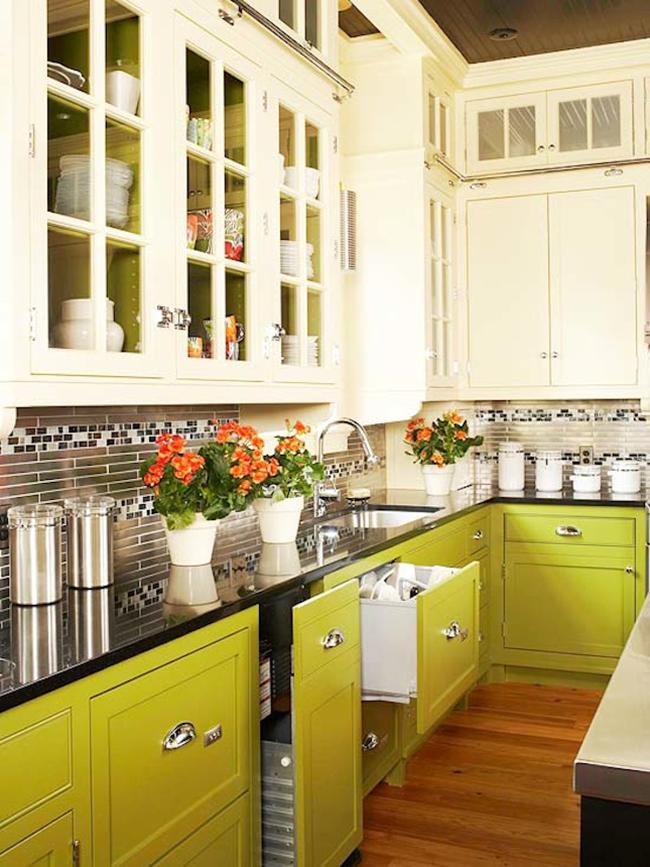 Дизайн кухни зеленого цвета ✅️80 фото модных интерьеров