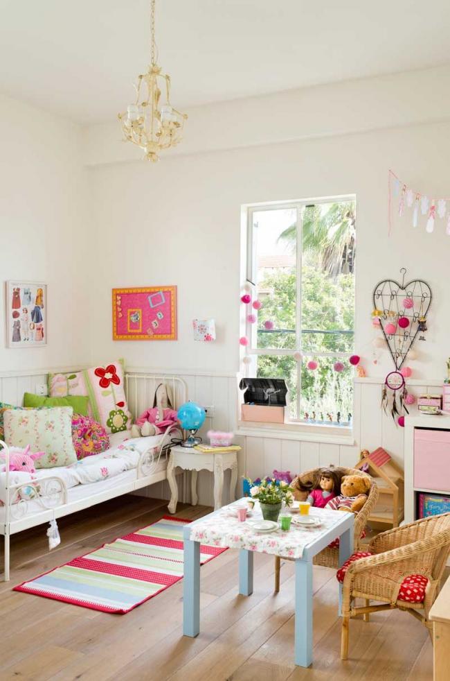 Комната маленькой леди с элементами стиля шебби шик