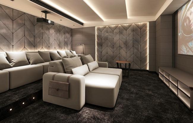 Комфортная комната для просмотра кино