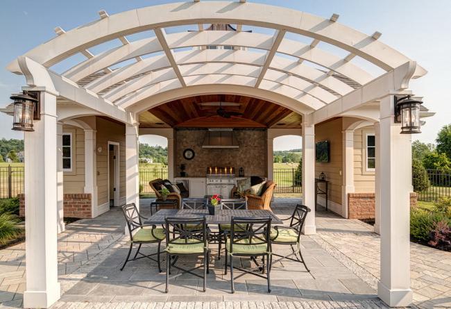 Каркас крыши в любой момент можно обтянуть брезентом или другим непромокающим материалом