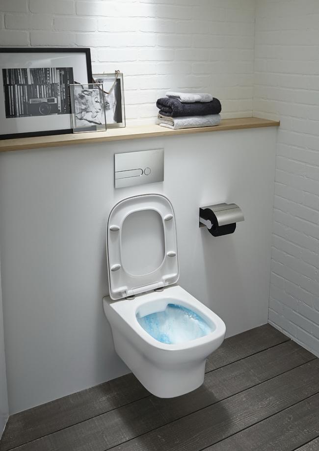 Подвесной унитаз идеален для маленьких комнат
