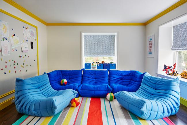 Приятная расцветка дивана украсит детскую комнату, создавая радостную атмосферу