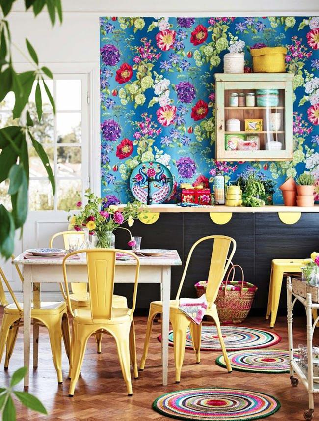 Кухня в стиле бохо – интерьер для творческих личностей, которым необходимо черпать вдохновение из простых вещей