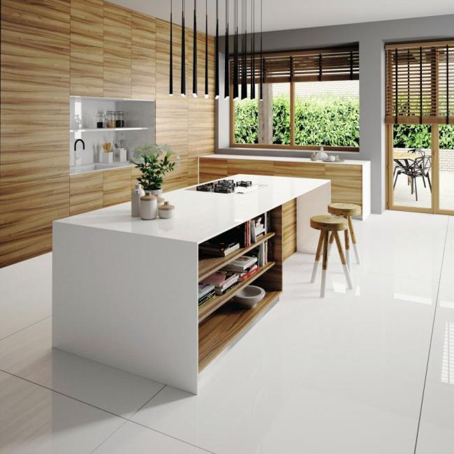 Минимум деталей на виду и максимум – на полочках и в шкафчиках. «Всё на своих местах» - основной девиз кухни в японском стиле
