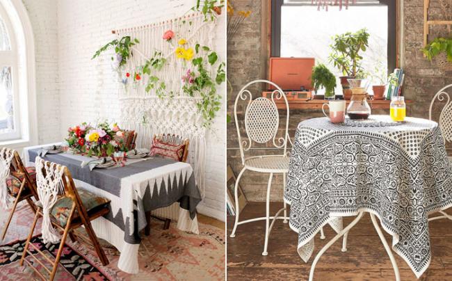 Этнический текстиль - основное украшение стиля бохо