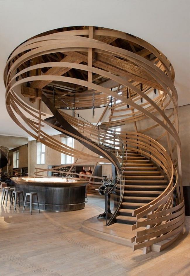 Лестница так же может быть произведением искусства