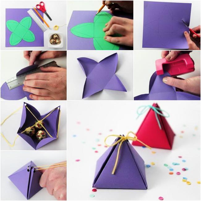 Небольшая треугольная упаковка
