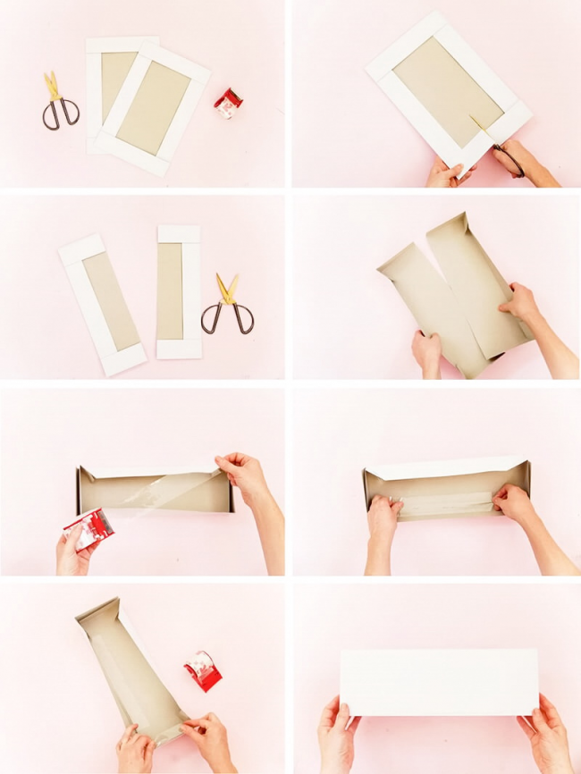 Как из большой коробки сделать маленькую подарочную