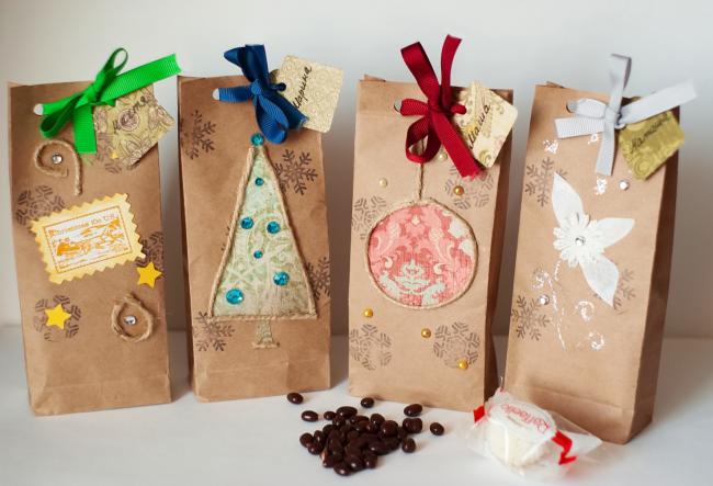 Подарочные крафтовые пакеты
