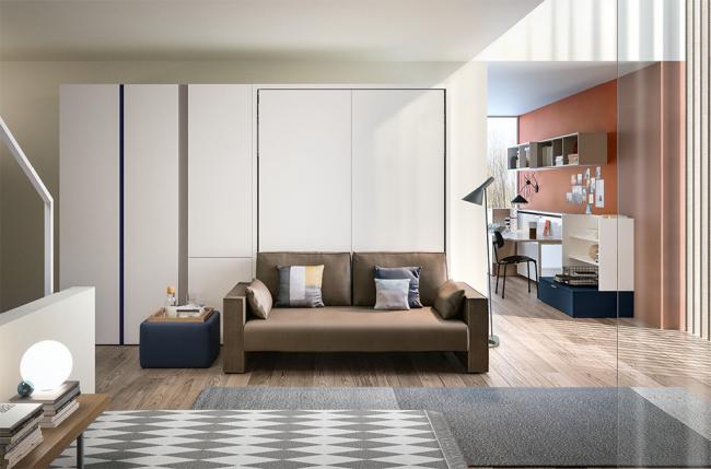Классический образ гостиной со спальным местом