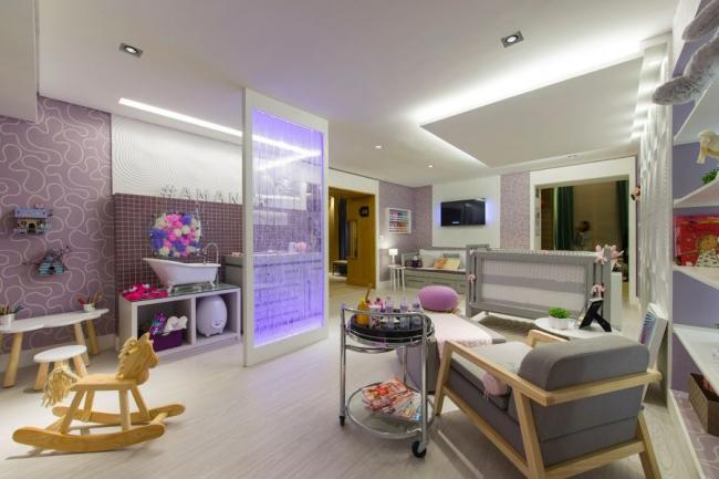 Зонирование комнаты с помощью потолка