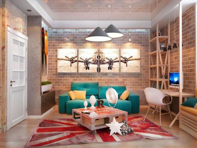 Визуальное увеличение пространства благодаря глянцевому потолку