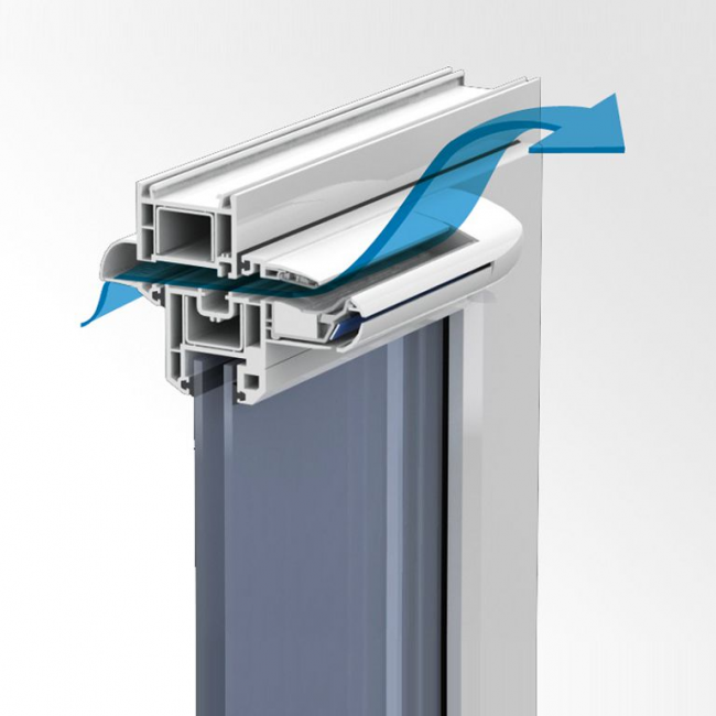 Принцип работы приточного клапана типа Aereco
