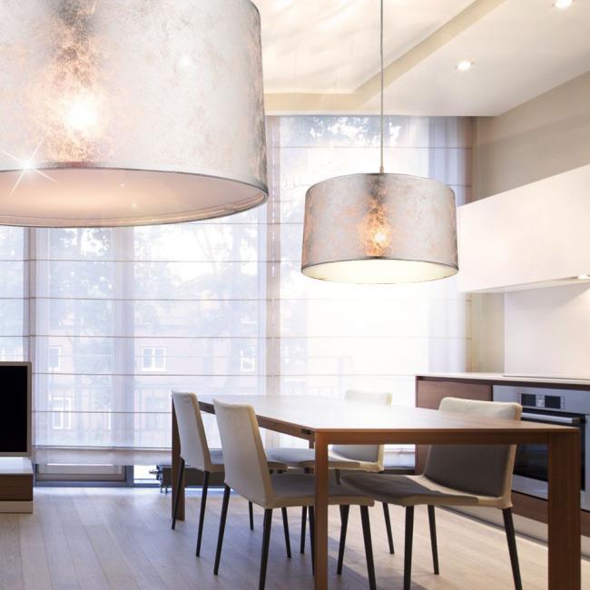 Подбирайте люстру для натяжного потолка, исходя из общего стилевого решения интерьера