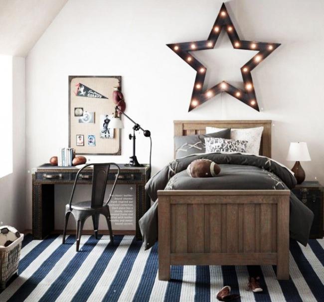 Стильное оформление комнаты мальчика-подростка