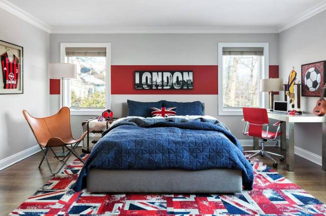 Уютная комната подростков в современном стиле