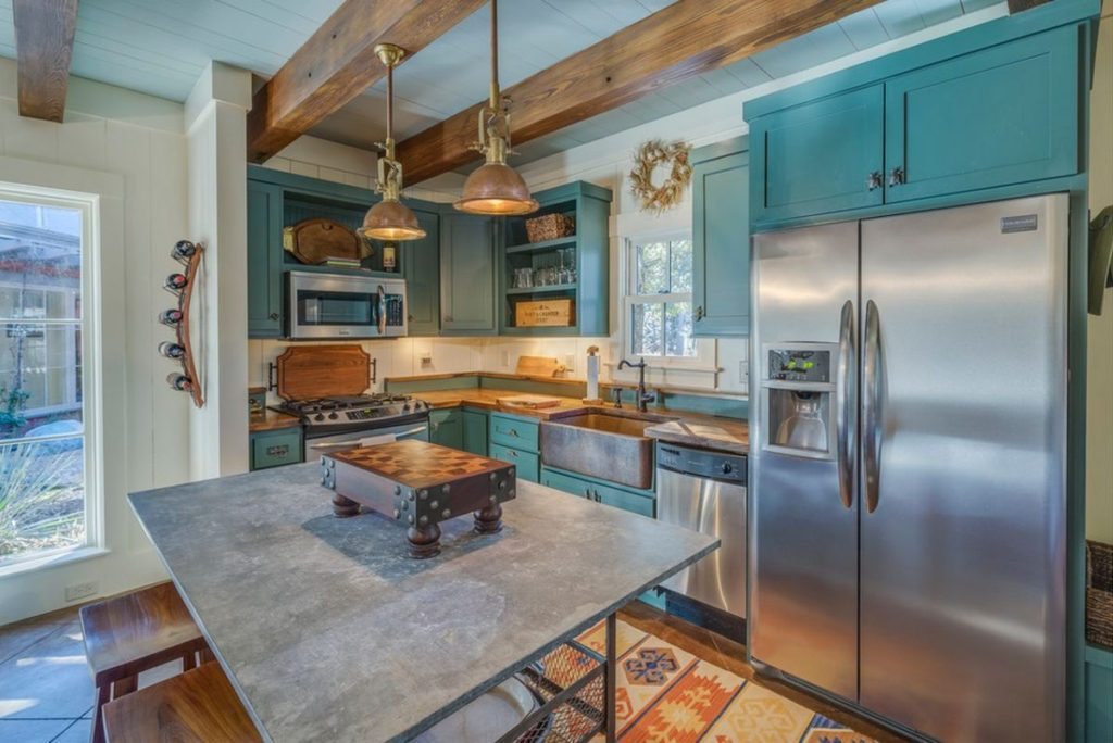 Голубая кухня 115 Фото роскошных интерьеров Дизайн