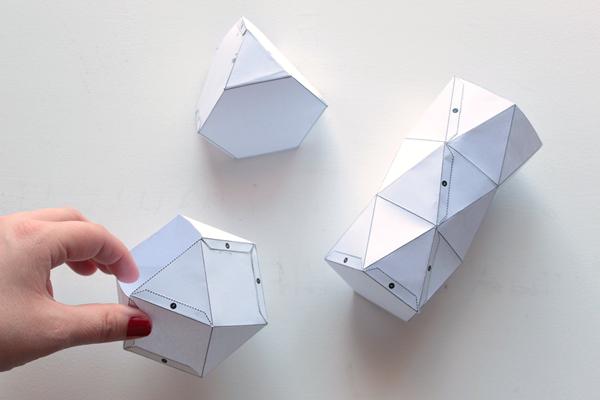 Готовый вид форм для геометрических свечей