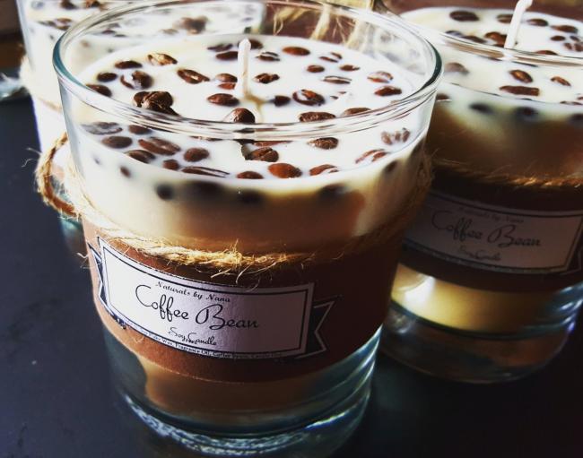 Кофейные свечи ручной работы