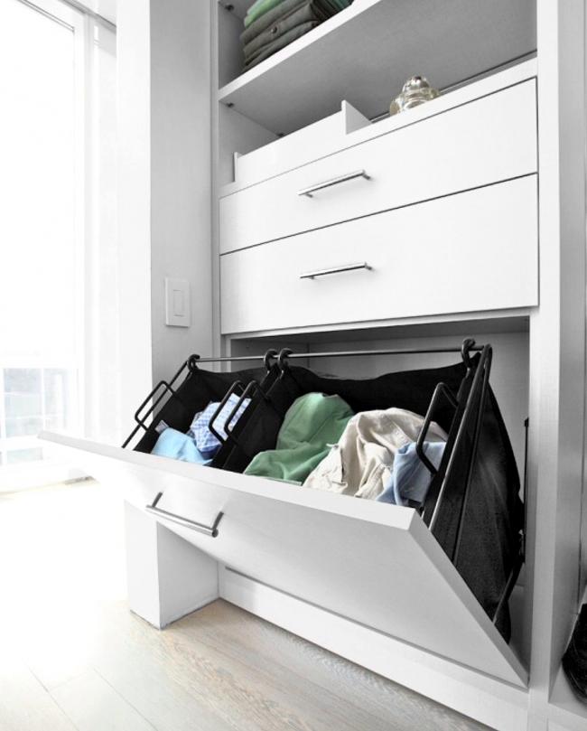 Удобные и вместительные ящики в гардеробной немаловажный фактор