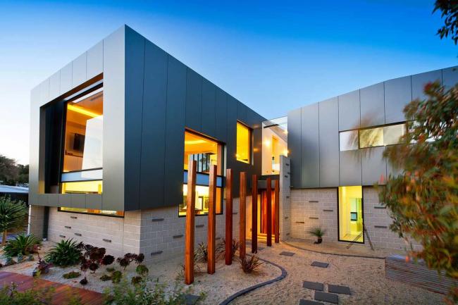 Прекрасный загородный дом модульного типа