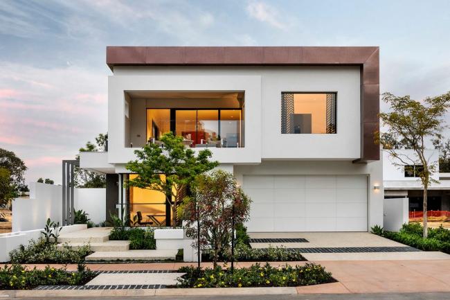 Отделка крыши металлом удачно подчеркнет современный стиль дизайна вашего дома