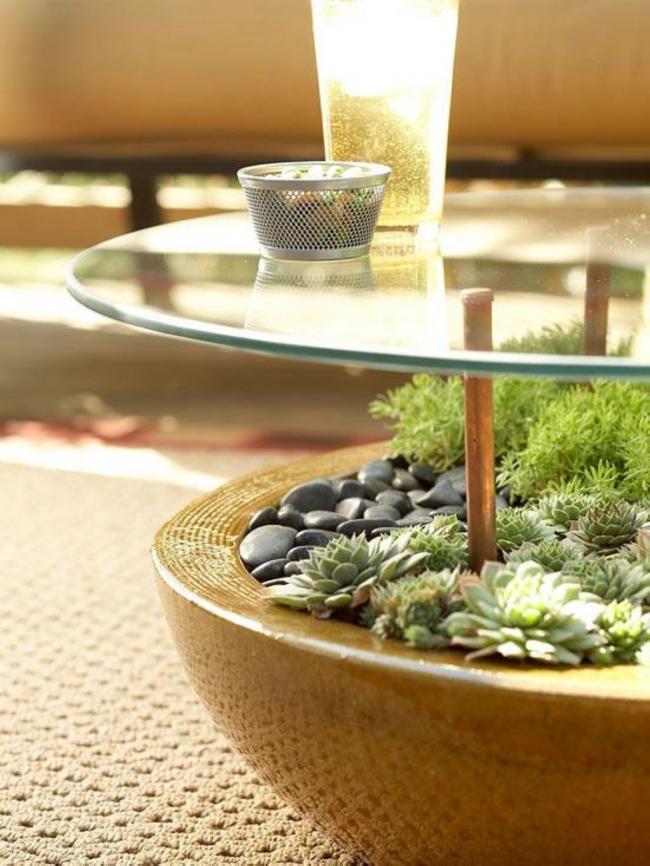 Флорариум под столешницей