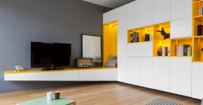 Угловые стенки для гостиной: 60 вместительных и функциональных решений для комфортного интерьера фото