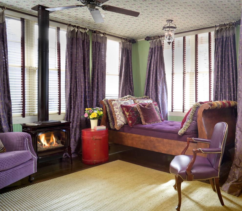 Контрастный интерьер уютной гостиной