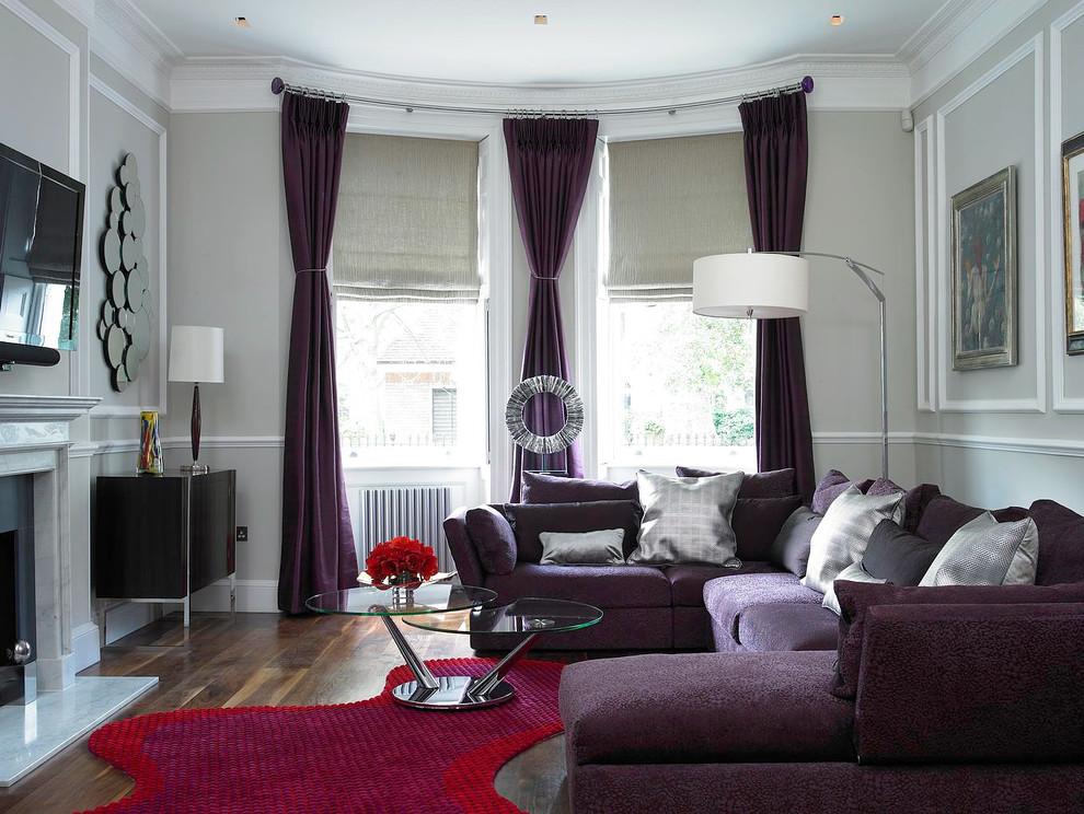 Роскошные гардины в дизайне гостиной