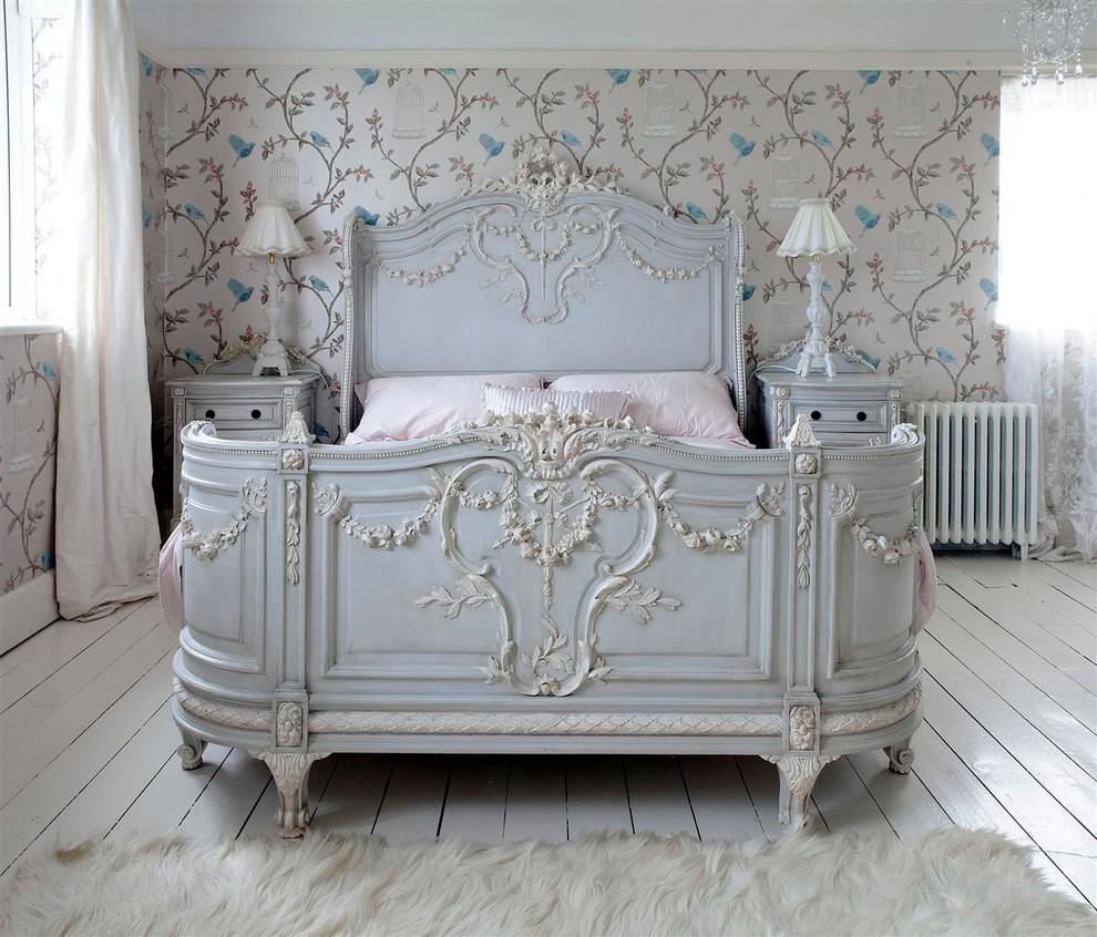 Шикарная кровать ручной работы из натурального дерева