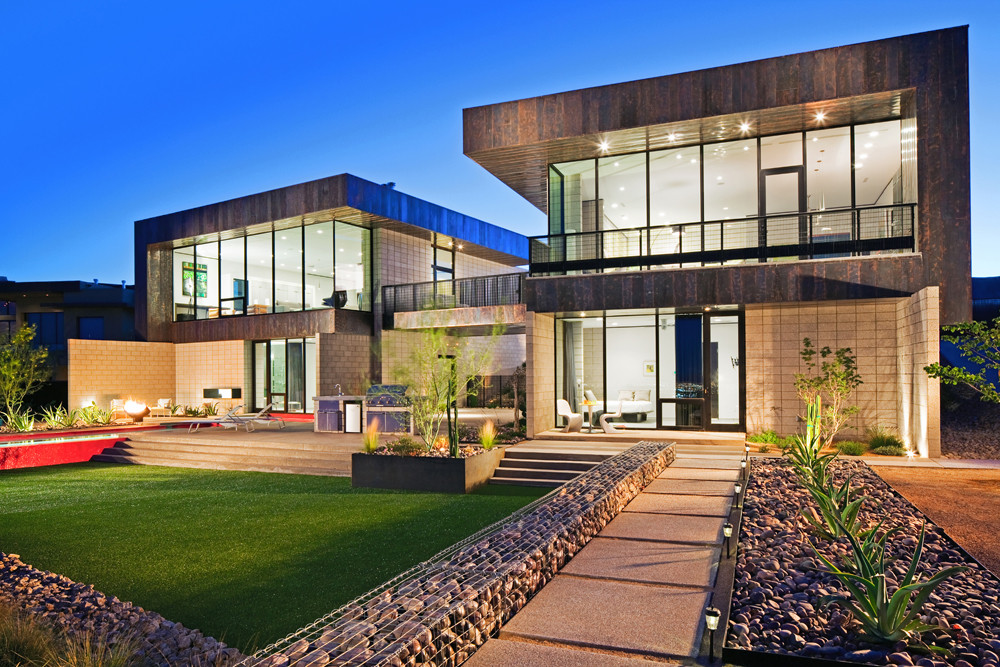 Красивый ландшафтный дизайн загородного имения
