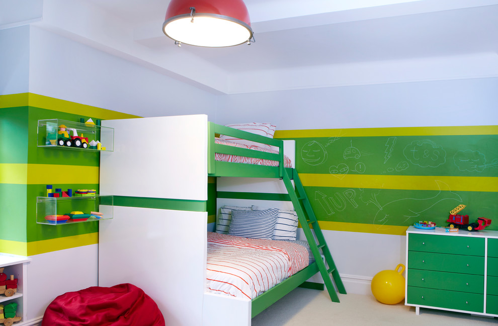 Зеленая маркерная краска в дизайне детской комнаты