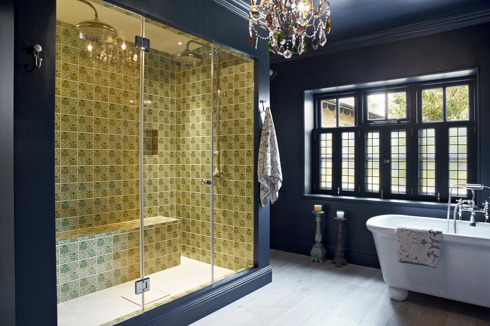 Шикарный интерьер ванной комнаты в стиле современная классика