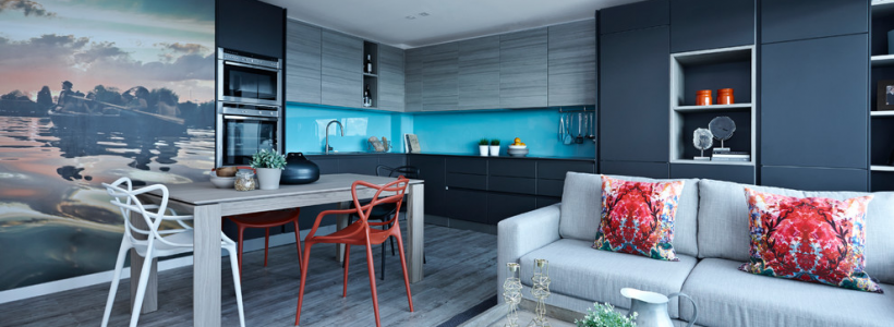 Синие кухни (100 идей): создаем современный и аристократичный интерьер в холодной цветовой гамме