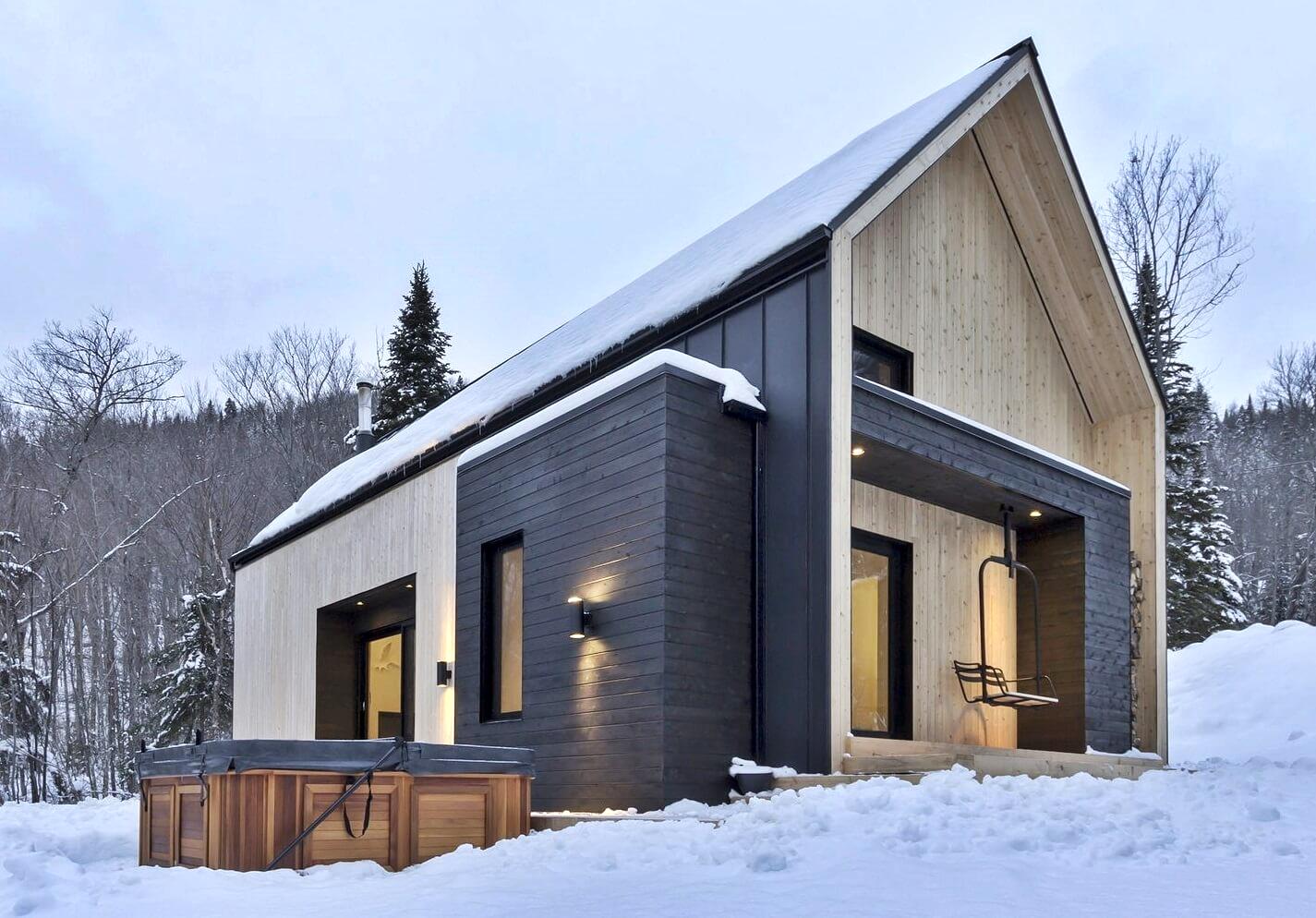Экстерьер современного дома в скандинавском стиле