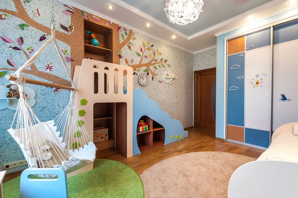 Правильно подобранный ковер делает комнату ребенку уютной и милой